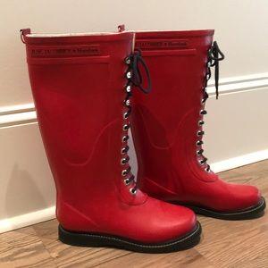 Ilse Jacobsen Hornbaek Red Boots